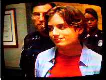 "Alesia with Elijah Wood on ""Homicide"""