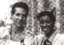 "Alesia with Steve Guttenberg in ""Bedroom Window"""