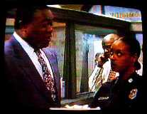 "Alesia with Yaphet Kotto on ""Homicide"""