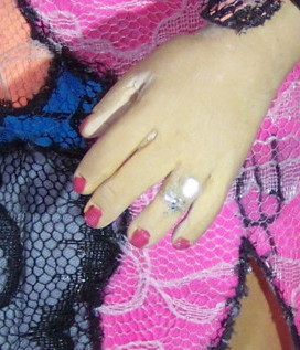 FKA Twigs doll engagement ring