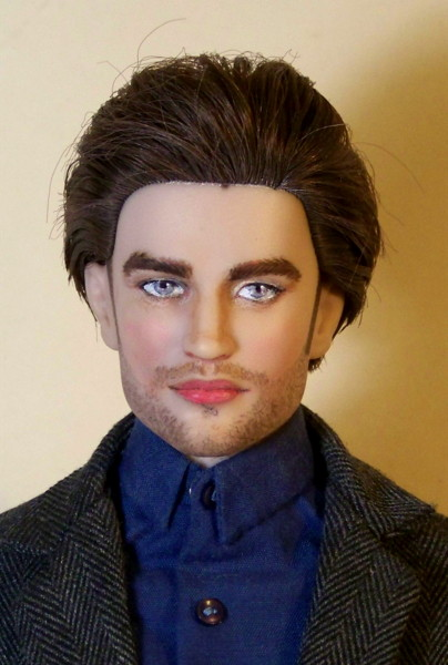 Robert Pattinson Twilight doll repaint by Alesia