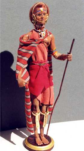 Maasai warrior doll by Alesia