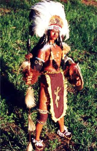 Spirit Warrior doll handmade by Alesia