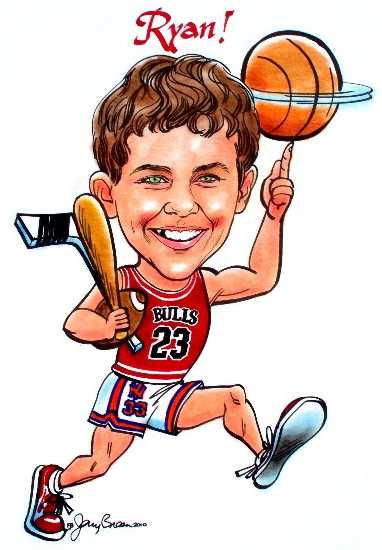 Maryland bar mitzvah caricatures Baltimore bat mitzvah cartoons gift caricatures