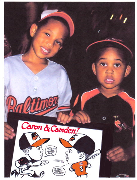 baseball caricature oriole park camden yards caricature ballpark