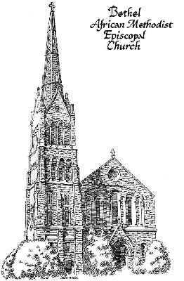 Bethel A.M.E. Baltimore architectural illustration