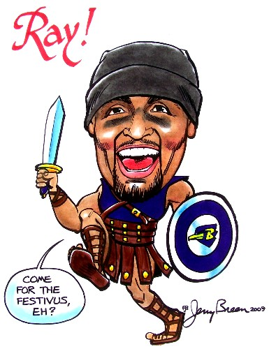 football cartoon sports cartoon Ray Lewis cartoon