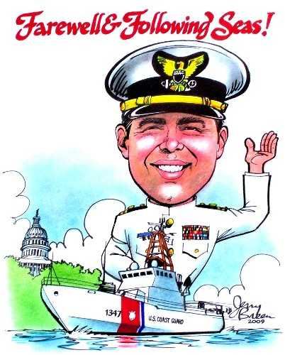 gift cartoon for servicemen gift caricature