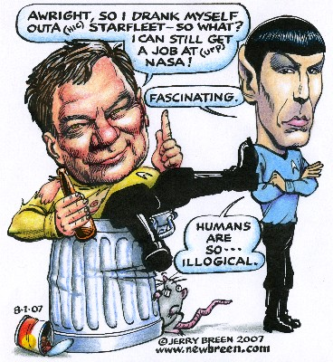 Star Trek Shatner cartoon Baltimore Spock cartoon Baltimore