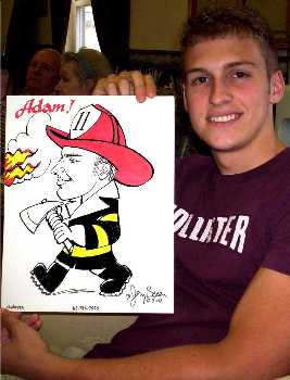 Baltimore caricature by Jerry Breen of Adam