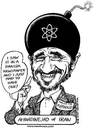 Iran cartoon Ahmadinejad cartoon caricature