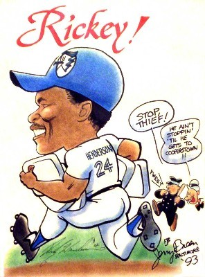 Rickey Henderson caricature Baltimore cartoon