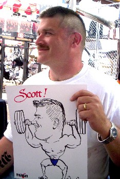 Baltimore caricature by Jerry Breen of Scott Sr.