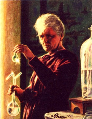 Madame Curie portrait painting Marie Curie