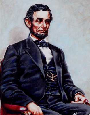 Baltimore portrait from photo of Lincoln