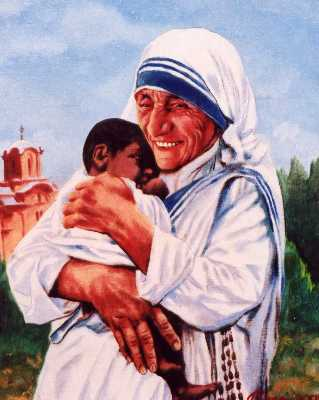 Baltimore portrait from photo of Mother Teresa