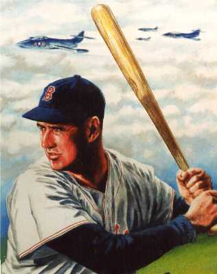 Baltimore portrait from photo of Ted Williams