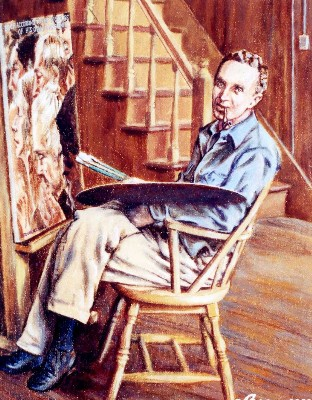 Norman Rockwell portrait painting