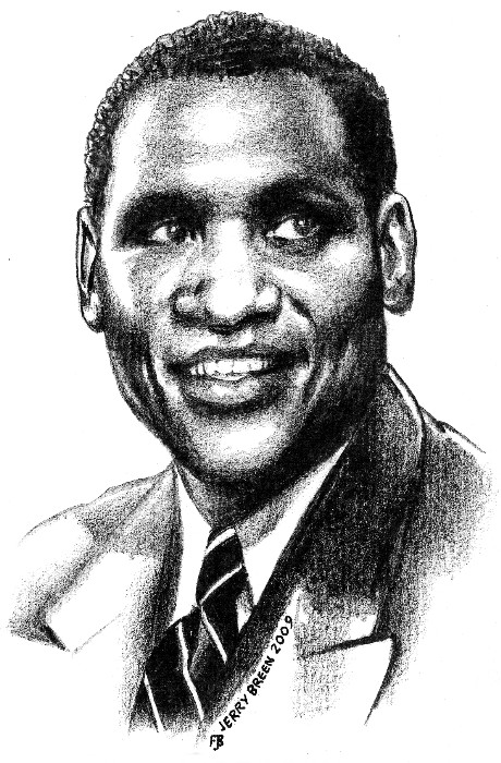 Paul Robeson portrait Baltimore Maryland portrait drawing