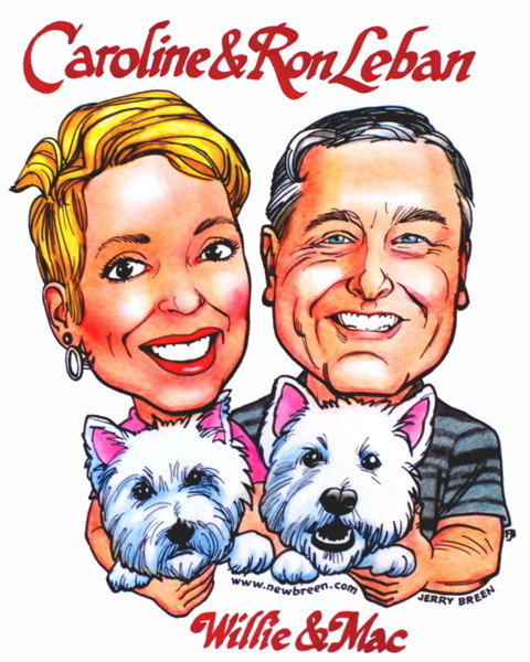 gift caricature from photo dog caricatures pet caricatures