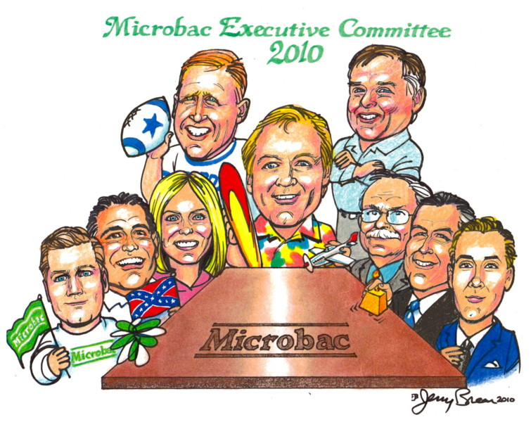 gift cartoon corporate caricature group caricature