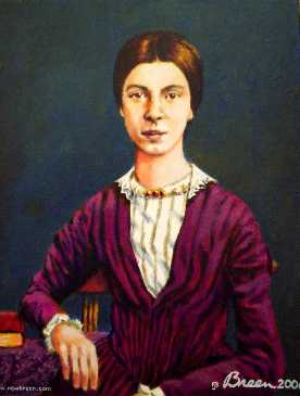 Emily Dickinson portrait painting Baltimore Maryland artist jerry Breen