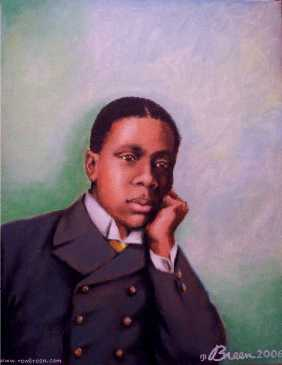 Paul Laurence Dunbar portrait painting Baltimore Maryland
