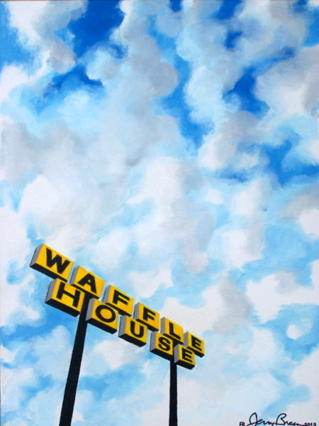 popart painting pop art painting waffle house painting Breen painting