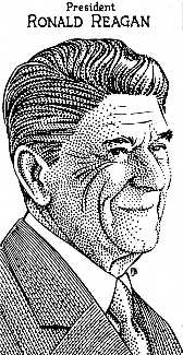 Ronald Reagan by Jerry Breen