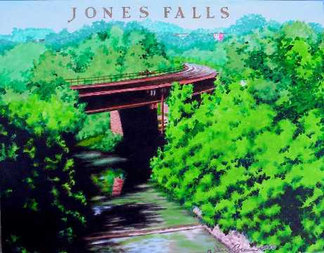 Jones Falls painting by Jerry Breen