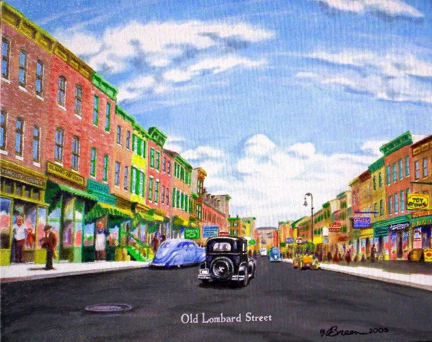 Old Lombard Street painting
