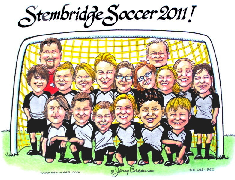 gift caricature from photo group caricature sports caricature team caricature sports team cartoon